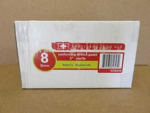 """EverReady First Aid Conforming Stretch Gauze 2""""- 96 Qty. Gauze Rolls 0200058"""