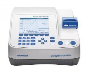 Eppendorf BioSpectrometer fluorescence