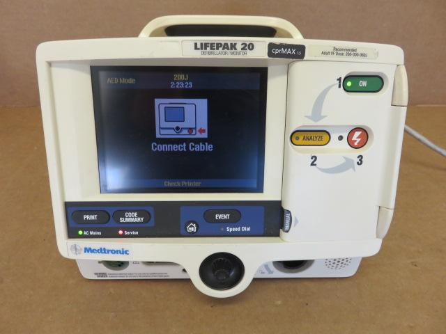 Medtronic Lifepak 20 P/N A3202488-000 Biphasic 3-Lead