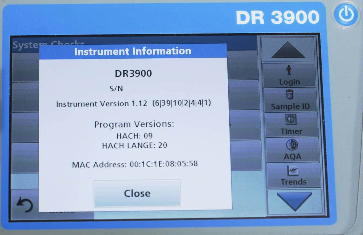 Hach DR3900 Laboratory Spectrophotometer for water analysis