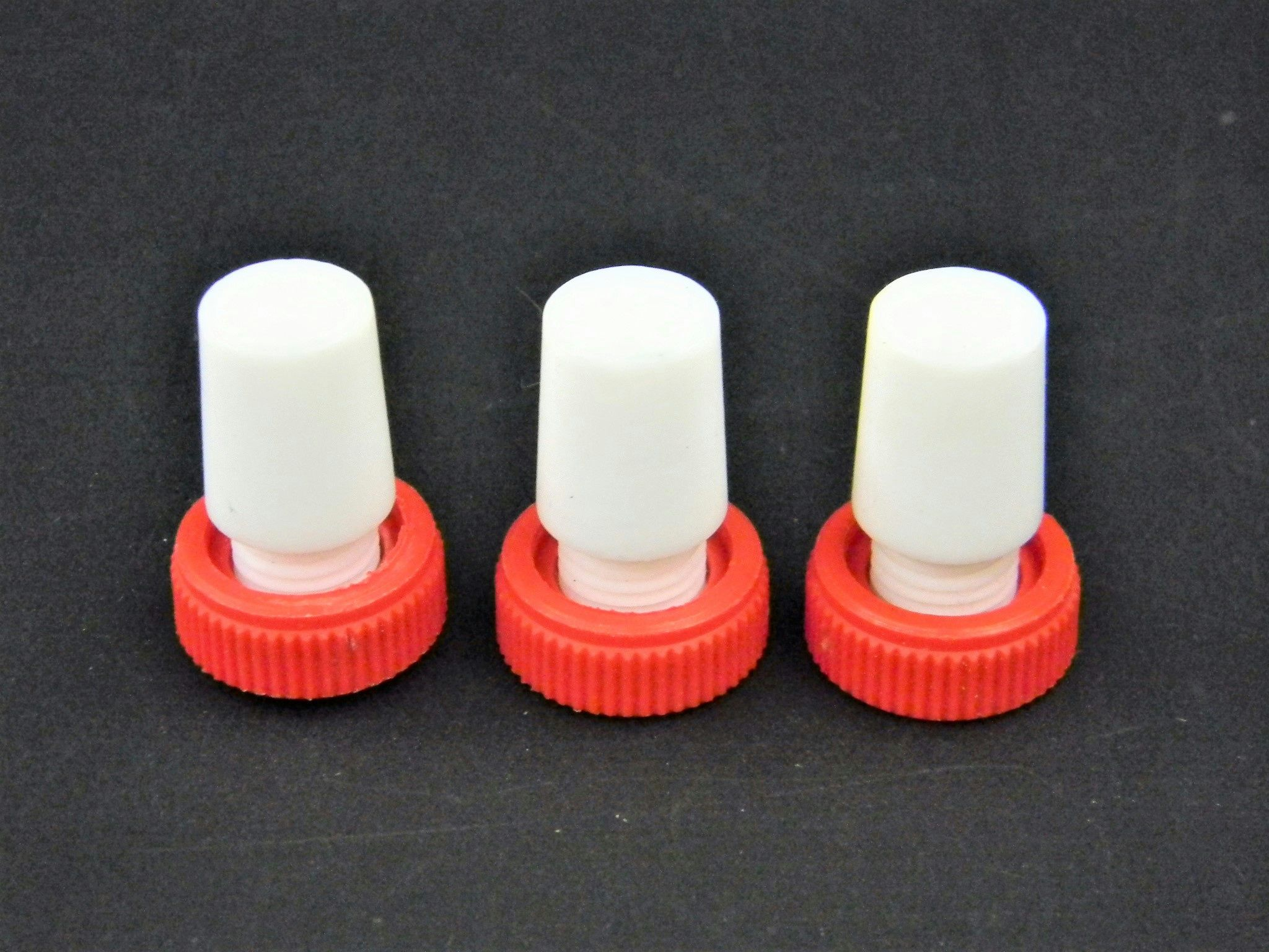 Safe-Lab Flask Length PTFE Stoppers w/ Extraction Nut CG-3019 (3)