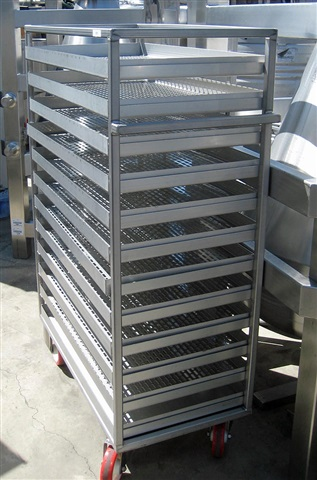 """Cart with Trays, 36"""" x 20"""", S/S"""