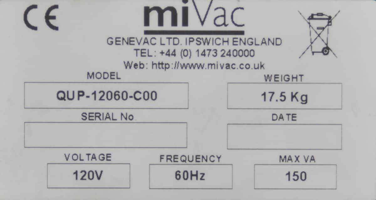 Genevac   miVac Quattro   Centrifugal Concentrators ***complete system***