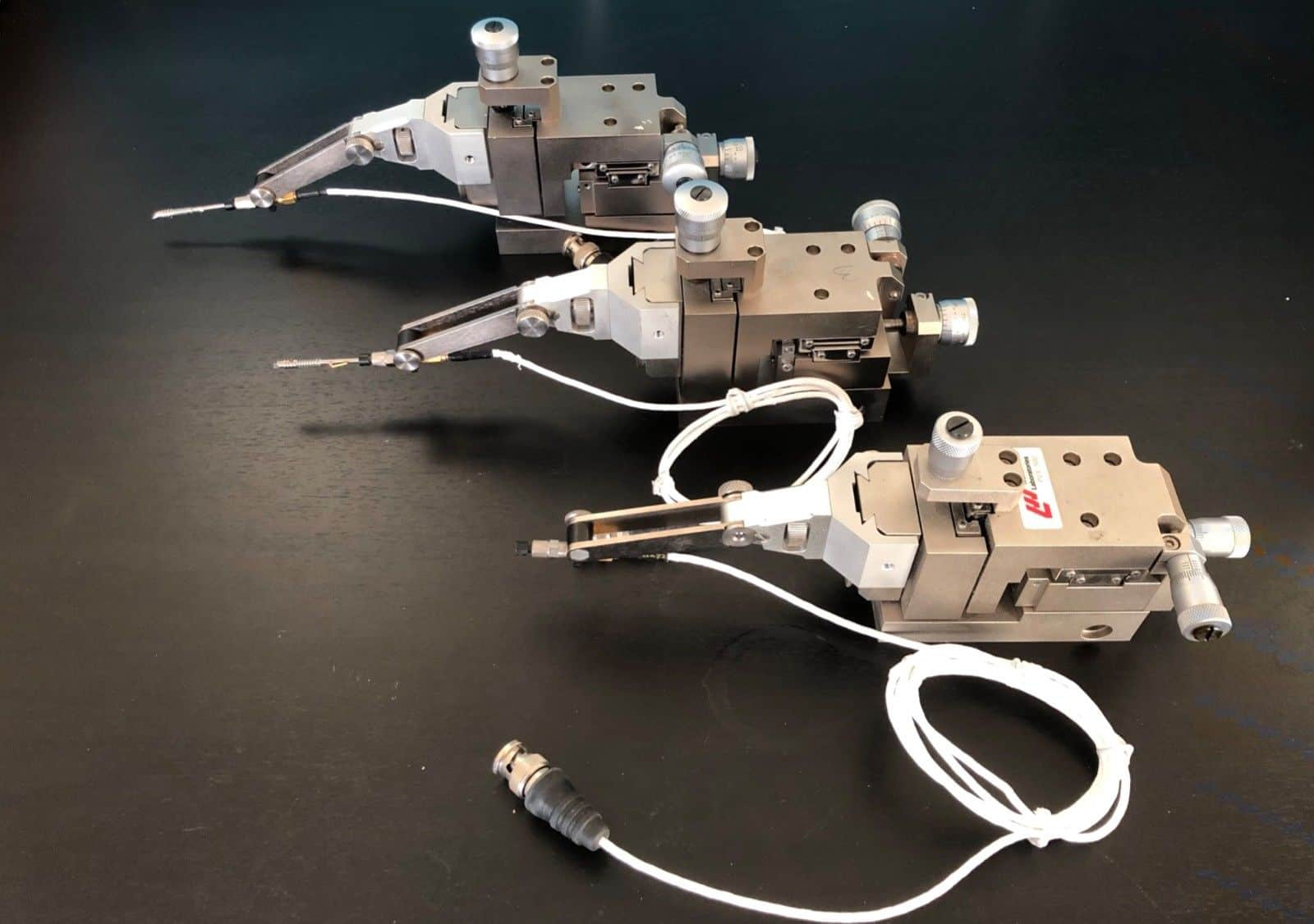 3x Wentworth PVX500 micromanipulators - refurbished & excellent condition