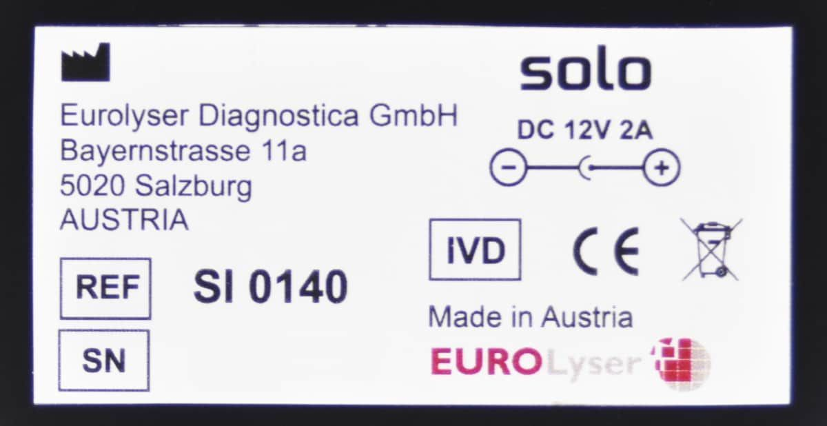 EuroLyser Diagnostica  Solo  Veterinary Point-of-care Diagnosis ***Tested***