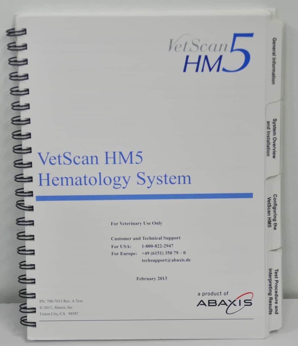 Abaxis VetScan HM5 Hematology Analyzer ***Fully Functional***
