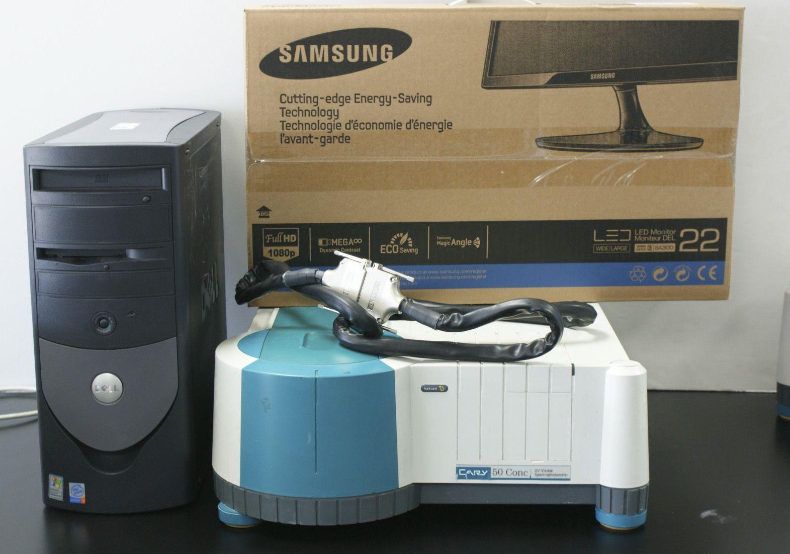 Varian CARY 50 Conc Agilent Varian CARY 50 CONC UV-VIS Spectrophotometer Varian Spectrophotometer