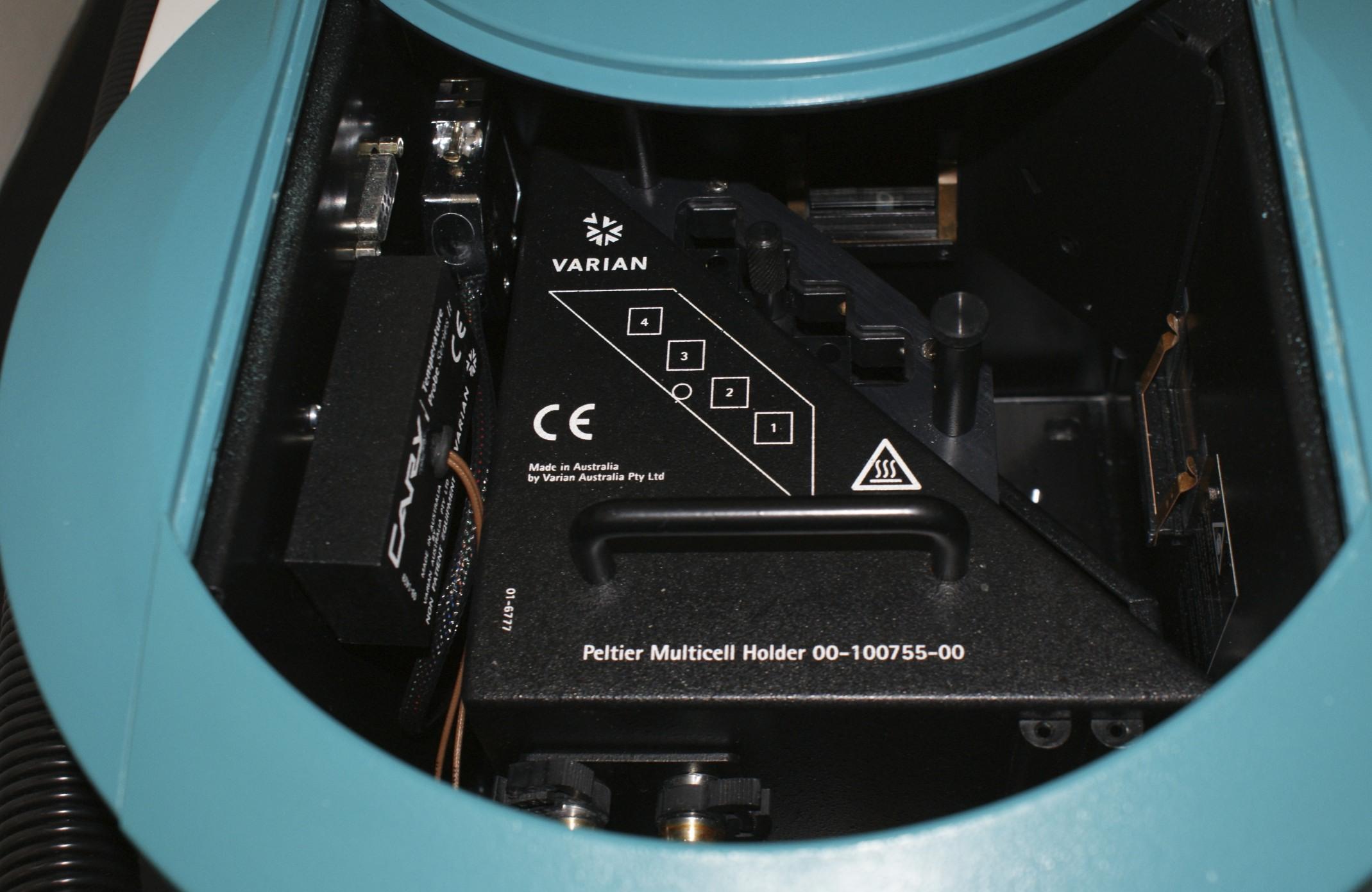 Varian Eclipse Fluorescence Spectrophotometer with Varian CARY Peltier Varian Peltier Multicell 4 Po