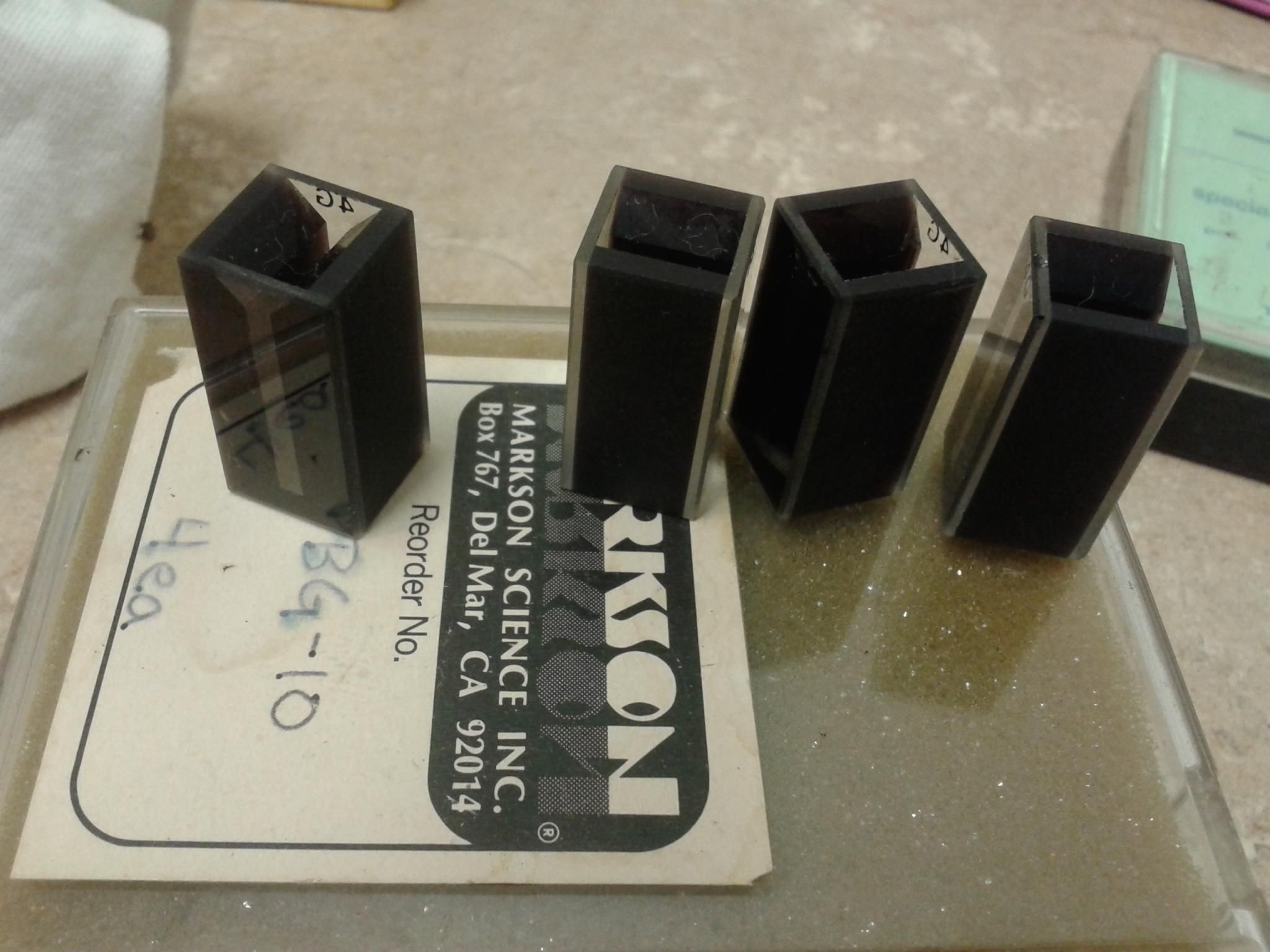 Set of 4 Quartz Vis/UN Mini-Cuvette