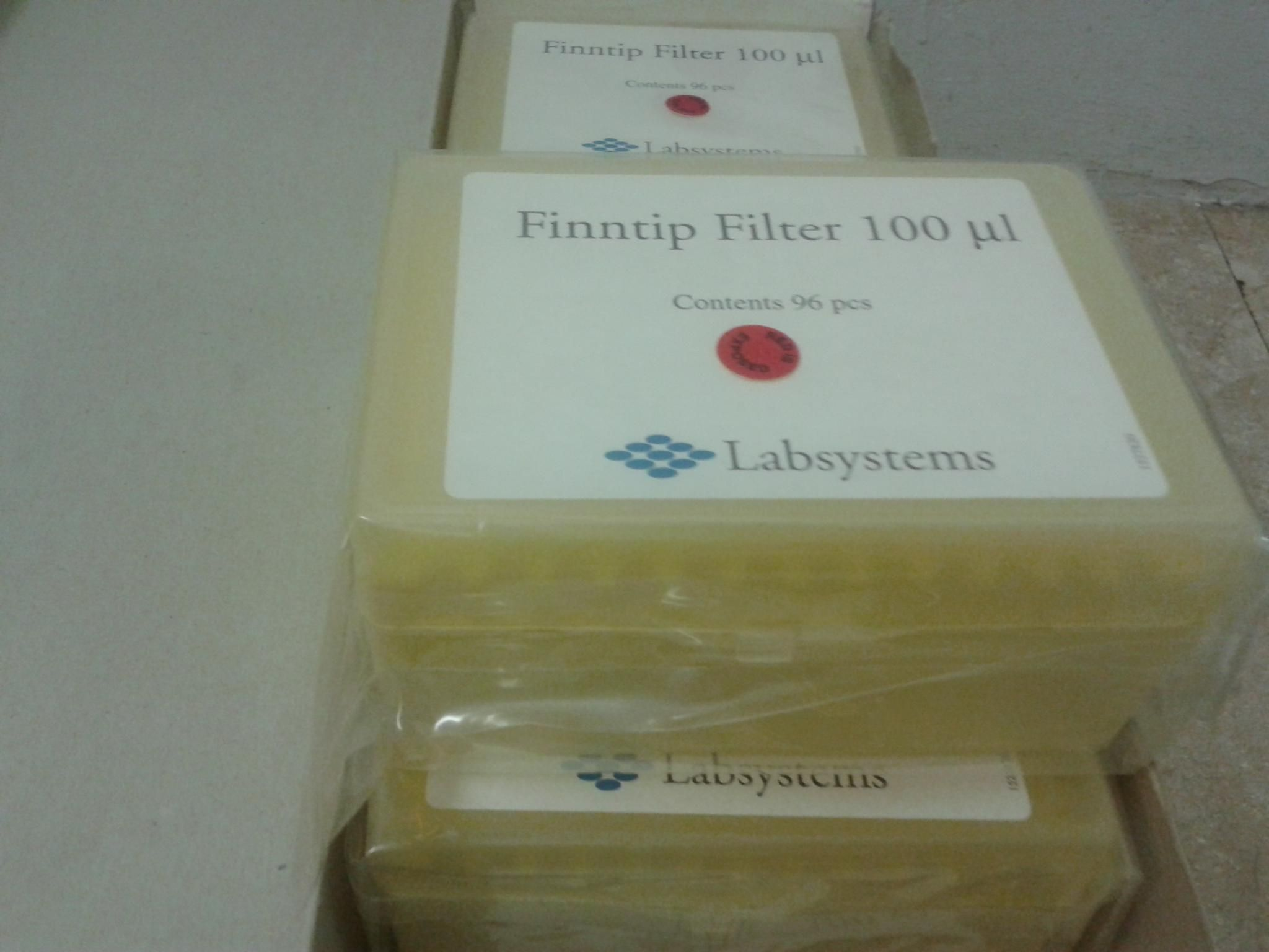 New Finntips Filter 100ul Tips ,96x10 pcs