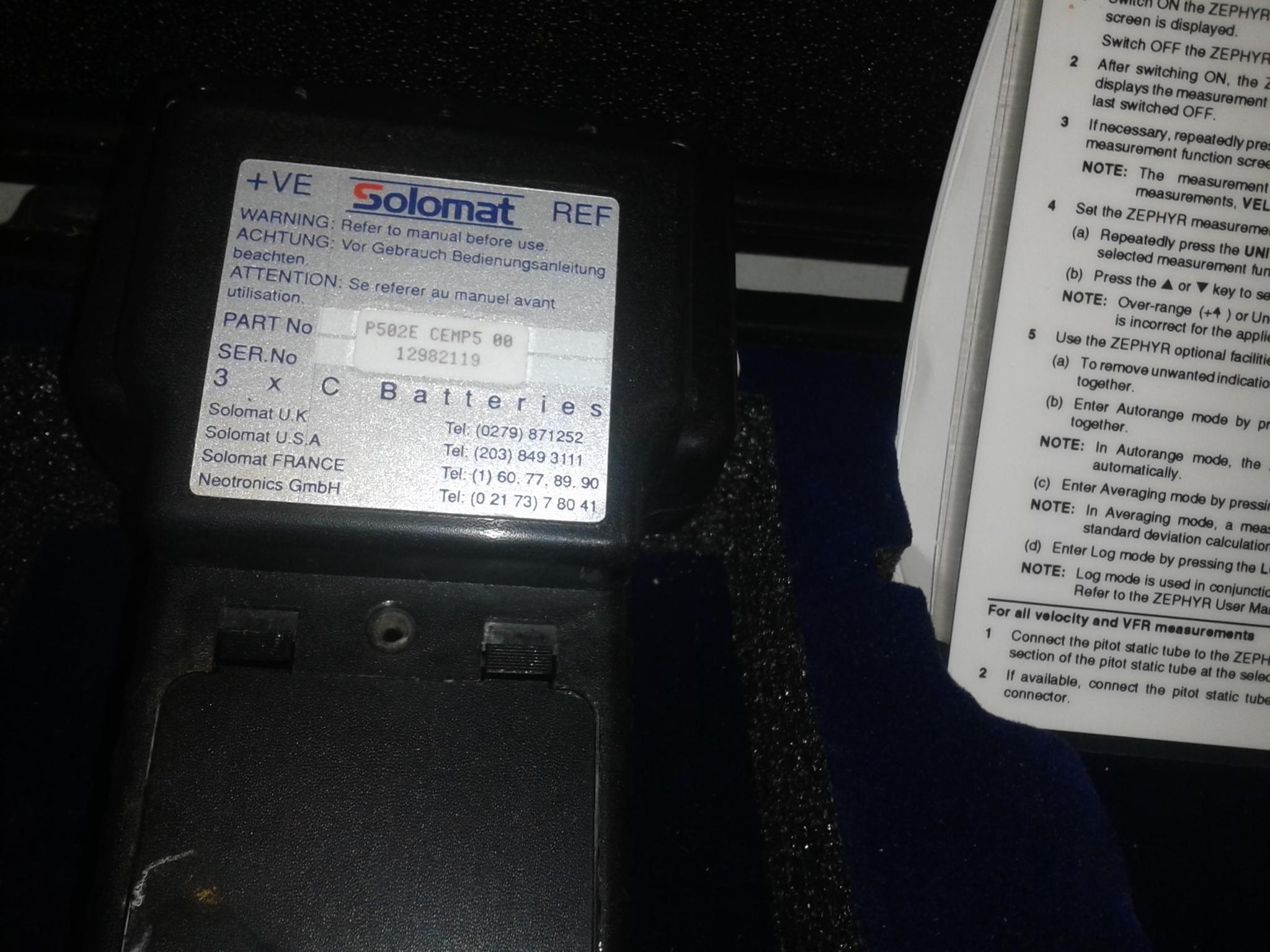 Digital Micronanometer Zypher Solemat System