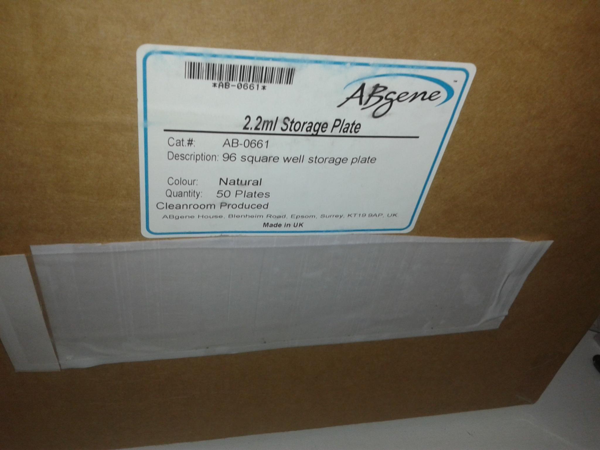 ABgene 2.2ml Storage Plate cat.AB-0661