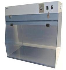 "Cleatech 24"" Portable Clean Bench - Static-Dissipative PVC Transparent"