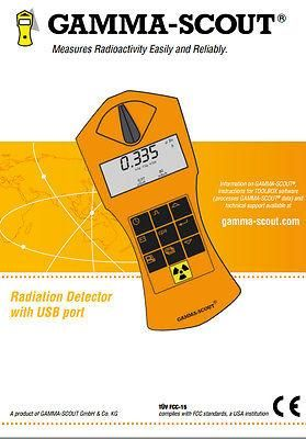 GAMMA-SCOUT Rechargeable Radiation Detector and Geiger Counter