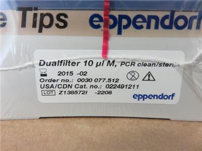 Eppendorf 022491211 Dualfilter Pipet Pipette Tips 0.1-10uL Lot of 480 Tips Total? Out Of Date As Of