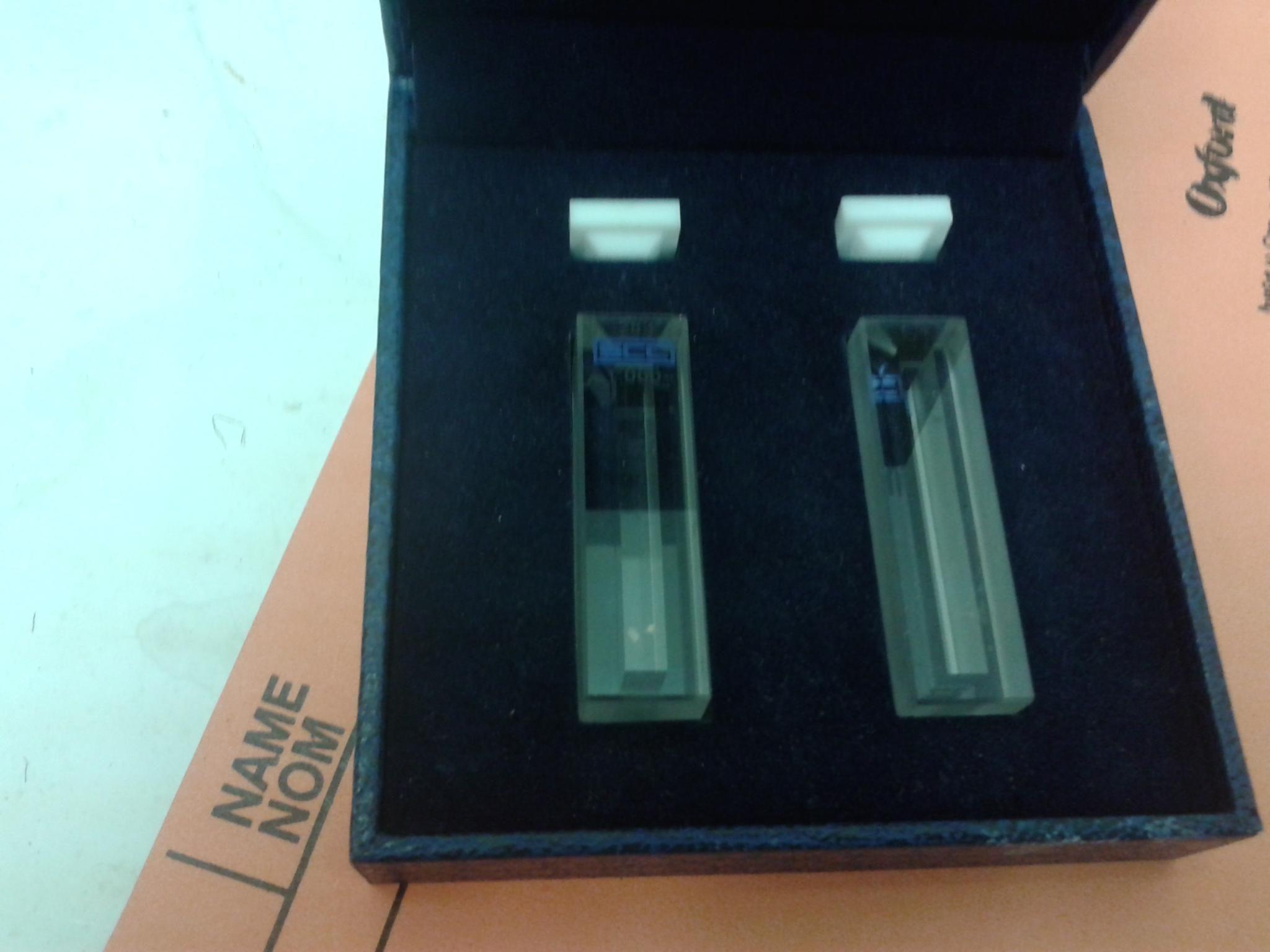 Set of 2 Helma UV/vis. Cuvette for spectrophotometer