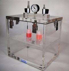 "Cleatech Vacuum Desiccator, Single Door, Clear Acrylic, 21.75W"" x 16D"" x 14H"""
