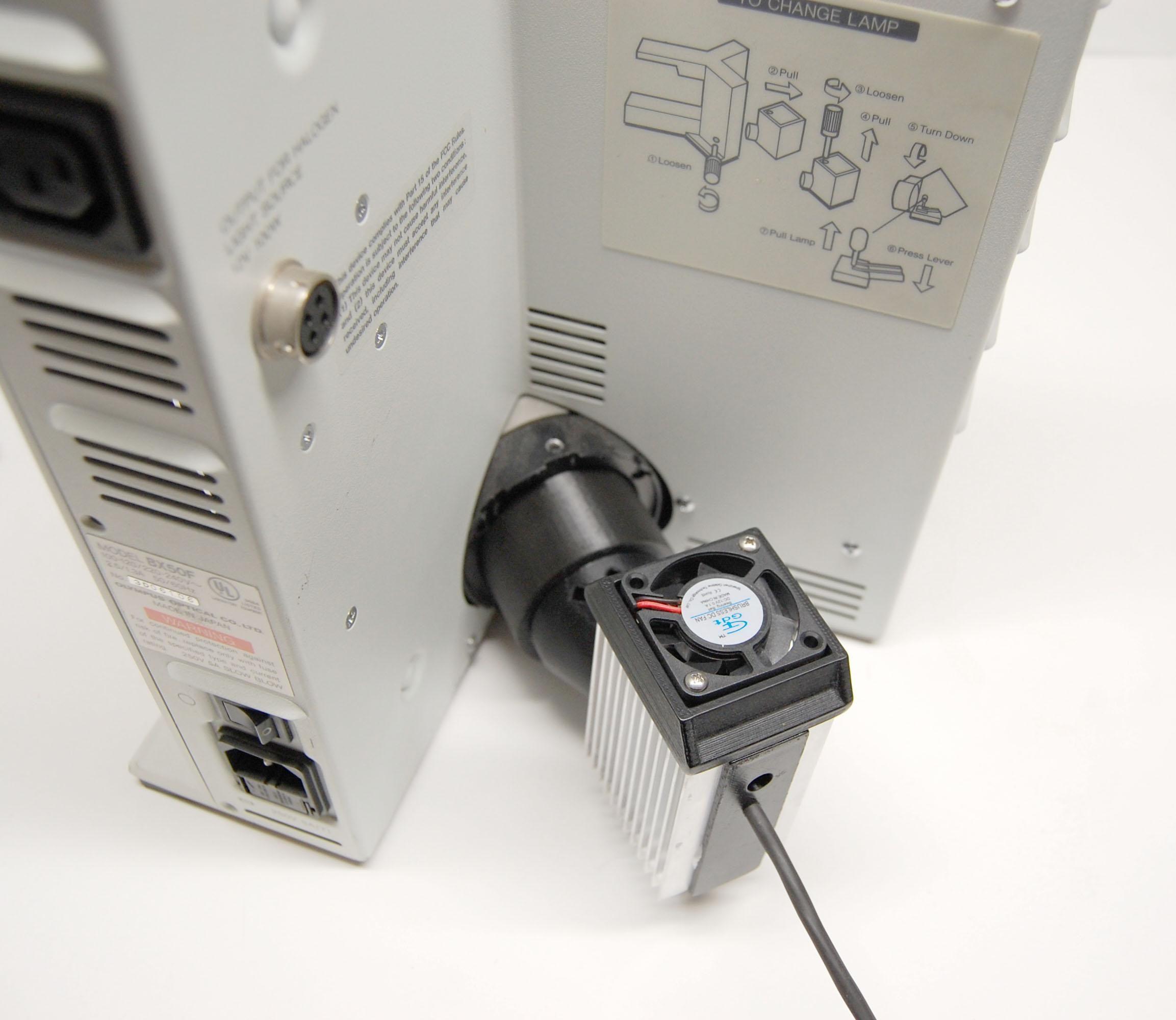 New 20w LED Illuminator for Olympus BX 50, 51 Microscopes
