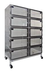 "Cleatech Desiccator, 10 Door, Static-Dissipative PVC Transparent, 36W"" x 18D"" x 60H"""