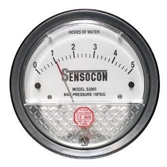 New Sensocon S2000 Differential Pressure Gauge