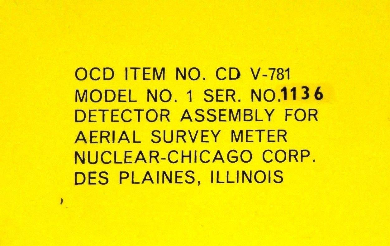 Nuclear Chicago Radiation Aerial Survey Metering Detector Simulator Assembly CD