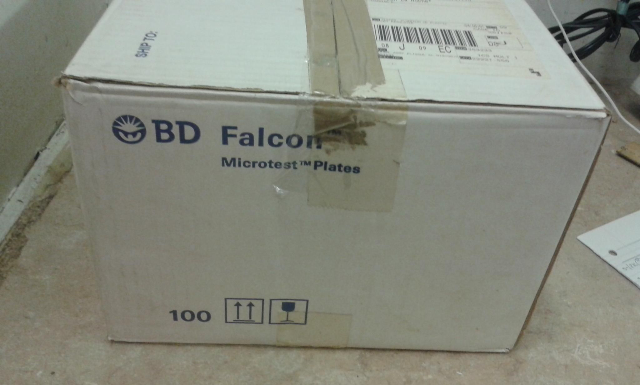 BD Falcon Microtest 384-well .120ul  Assay Plate clear ,standard surface ,