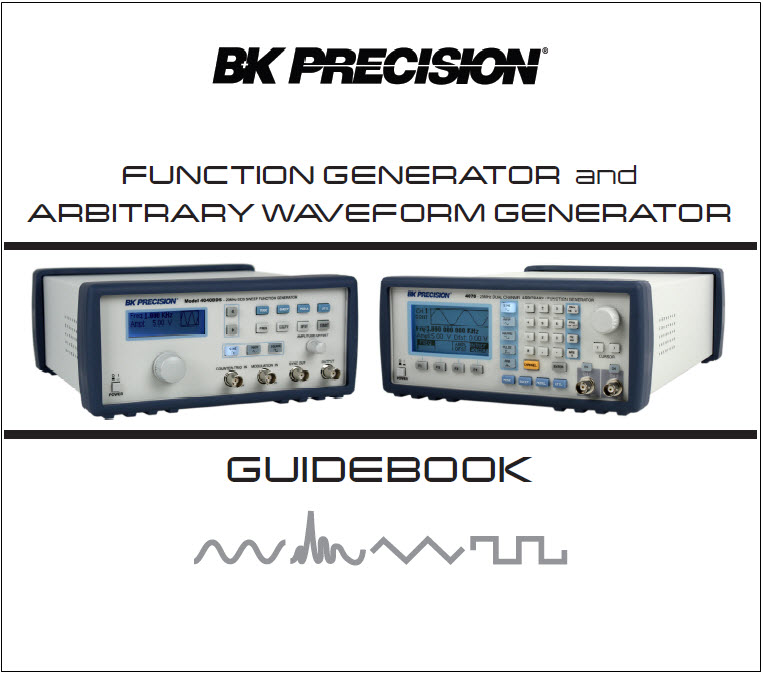 B&K Precision Function & Arbitrary Waveform Generator Guide