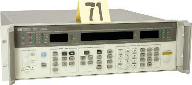 HP 8657B Test and Electronics RF Signal Generator. Frequency range: 0