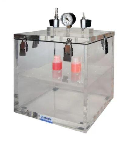Cleatech- Vacuum Desiccator Removable Lid Clear Acrylic 14WX8DX10H