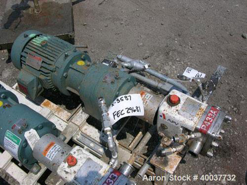 APV M1S/021/10 Positive Displacement Used- Rotary Lobe Pump, Model ,