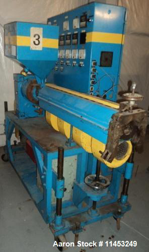 "Extruders - Single Screw Extruder Used- Extruder, 1.5"" diameter, 30:1"