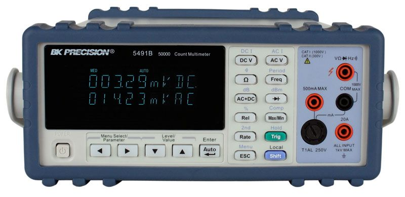 B&K Precision 2831E and 5491B True RMS Bench Digital Multimeters