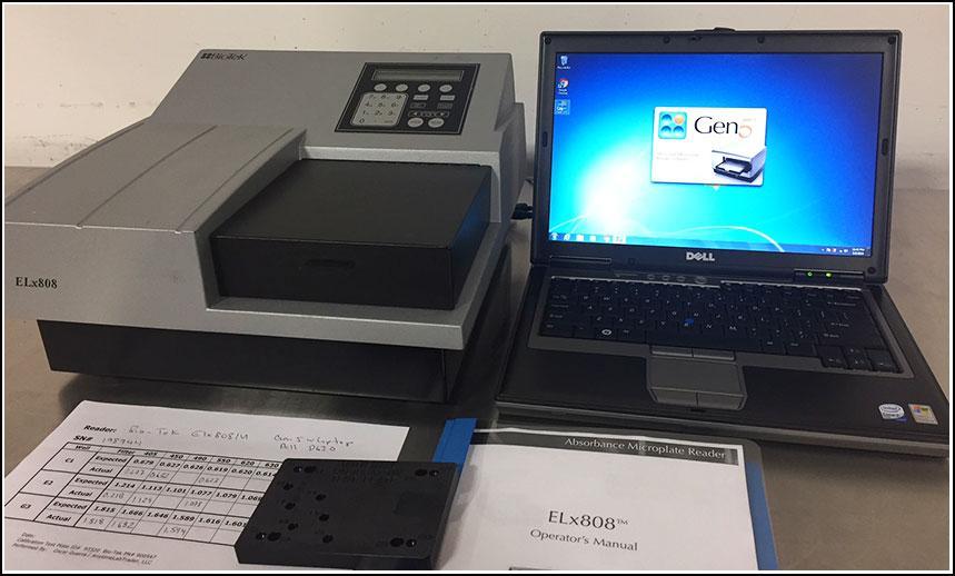 Bio-Tek ELx808 IU Microplate Reader w Gen5 Software w WARRANTY
