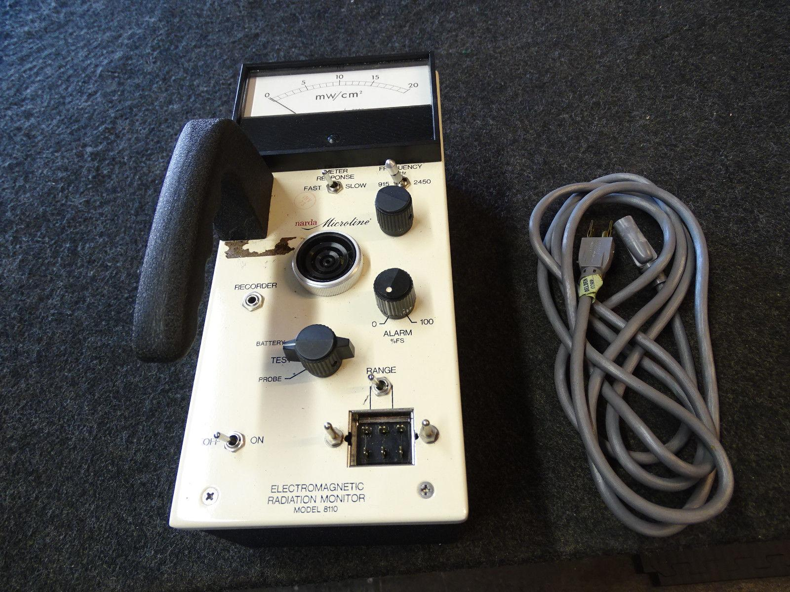 """Narda Microline 8100 Electromagnetic Radiation Meter """"Surveyor"""" w/ 3 Probes NICE"""