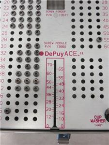 DePuy ACE Titanium Screw Set Tray 14602- 201 Pieces Total