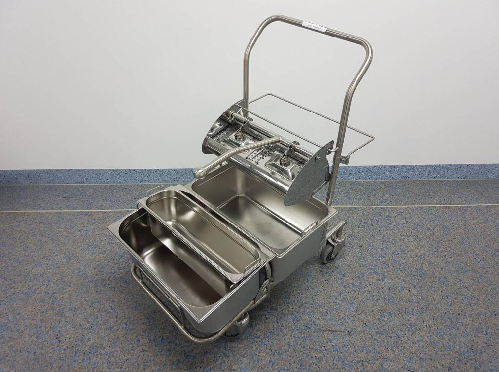 NNP-  Stainless Steel Cleanroom Cleaning Trolley