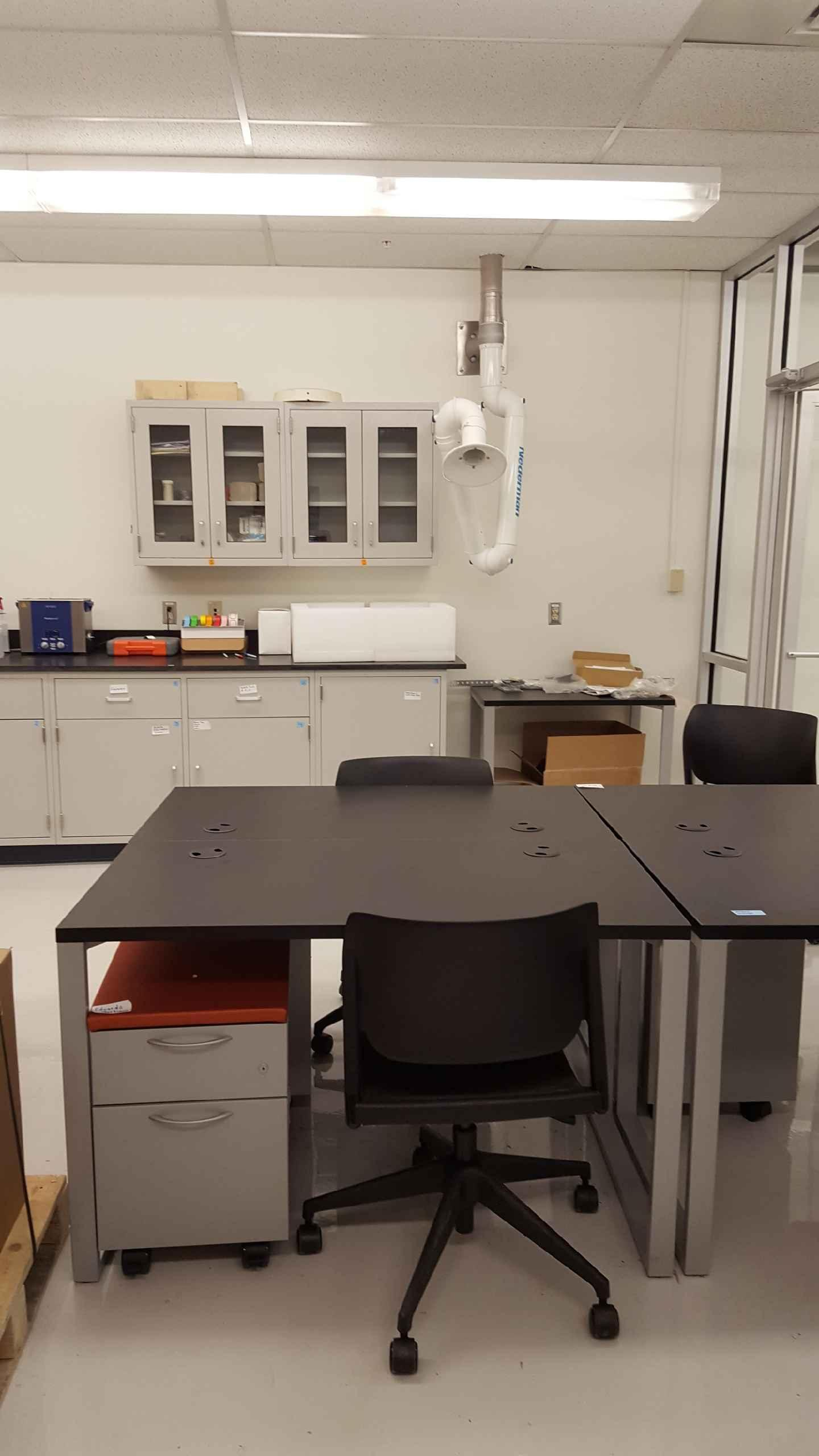 New and used laboratory cabinets and counter tops