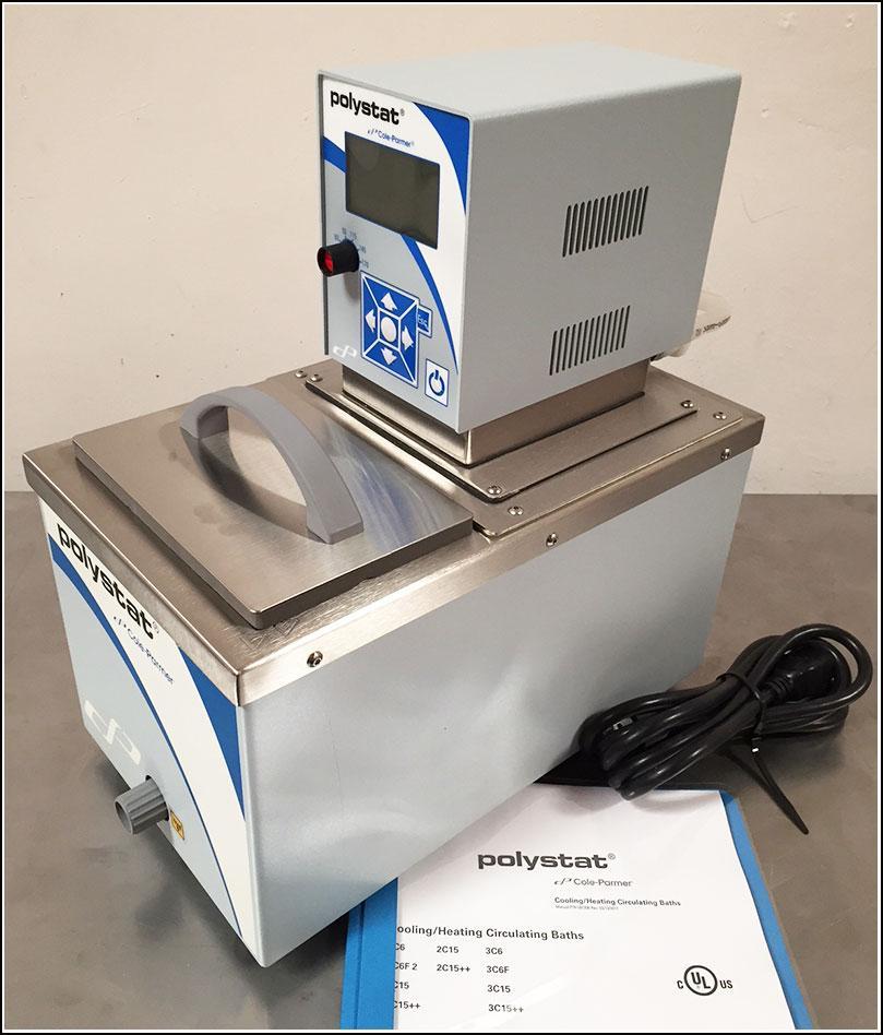 Cole-Parmer Polystat 2W7 Heating Circulator Water Bath w WARRANTY