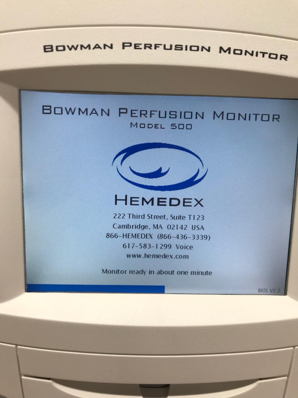 NEW Hemedex Bowman Perfusion Monitor Model 500
