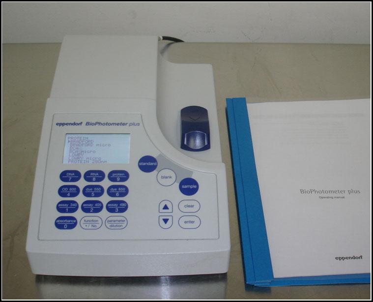 SOLD:  Eppendorf BioPhotometer PLUS Spectrophotometer UV/VIS