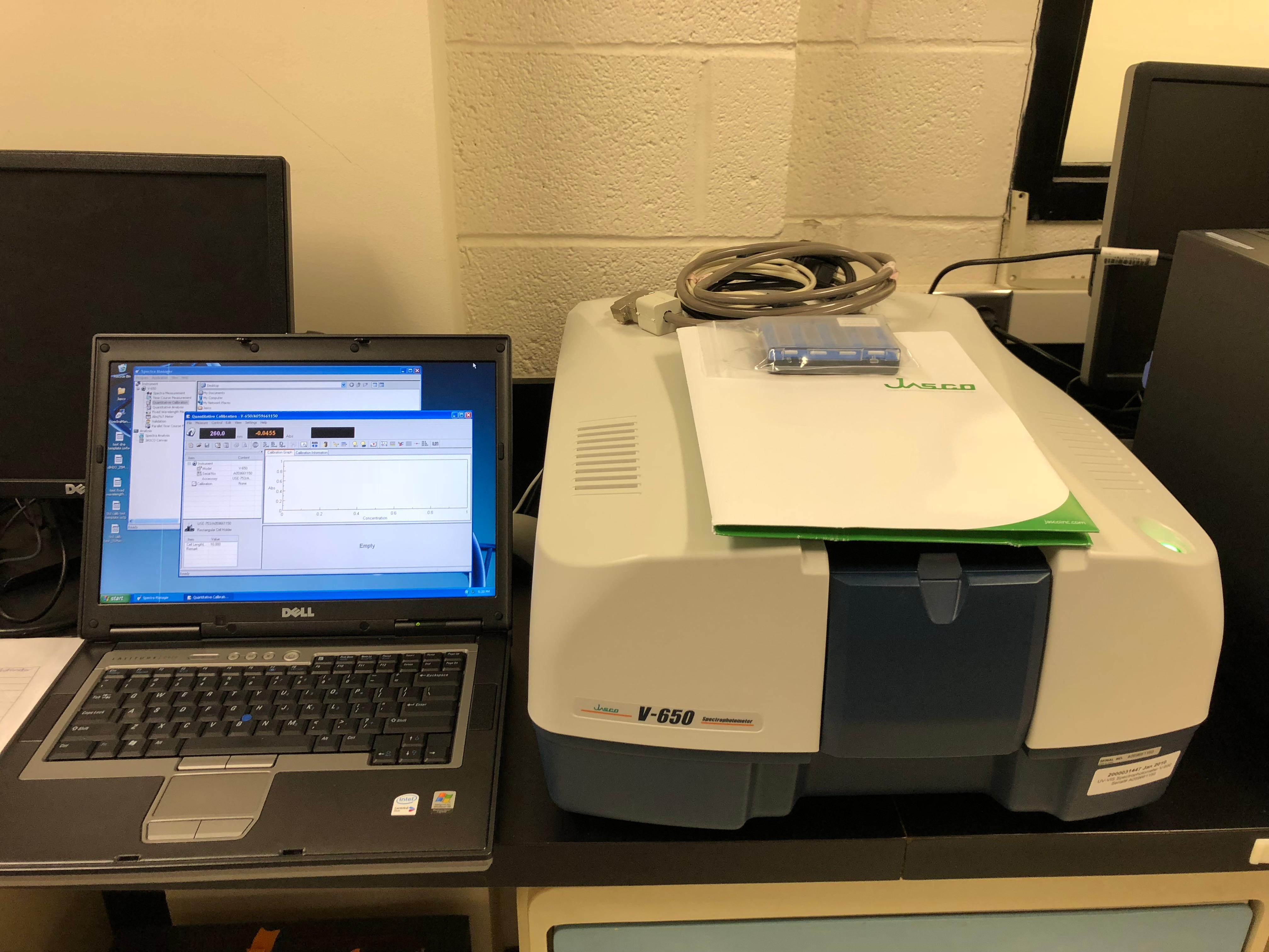 Jasco V-650 Spectrophotometer-New Performance Service and Calibrated!