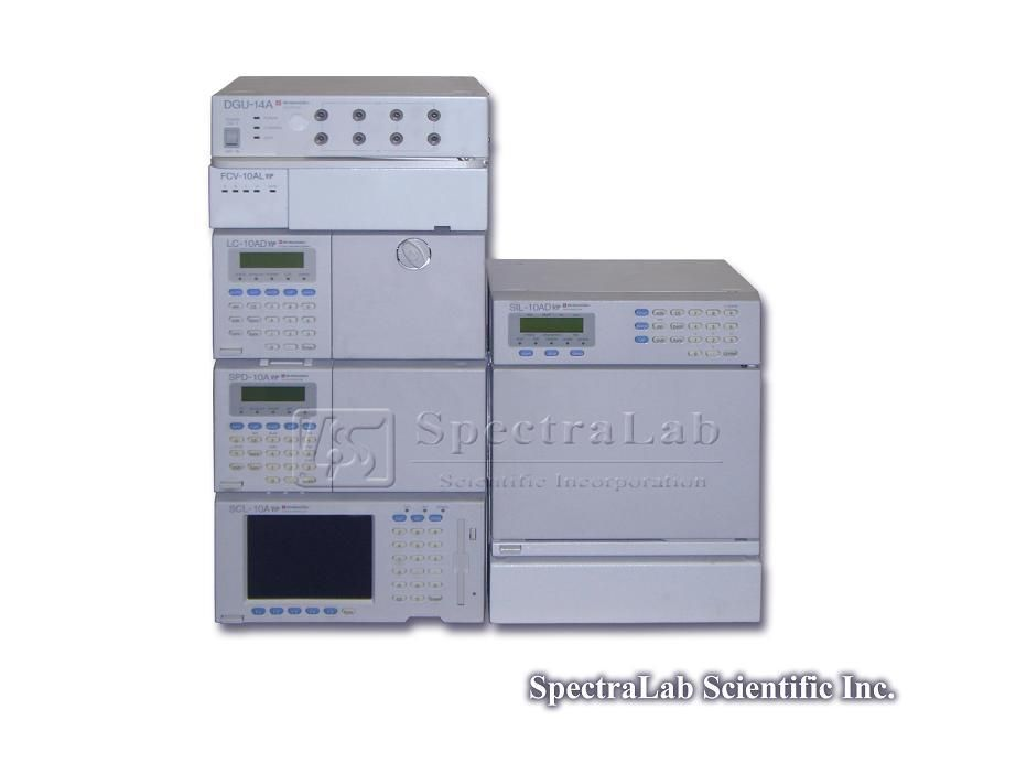 Shimadzu LC-10AD VP, SPD-10A vp UV etc HPLC System