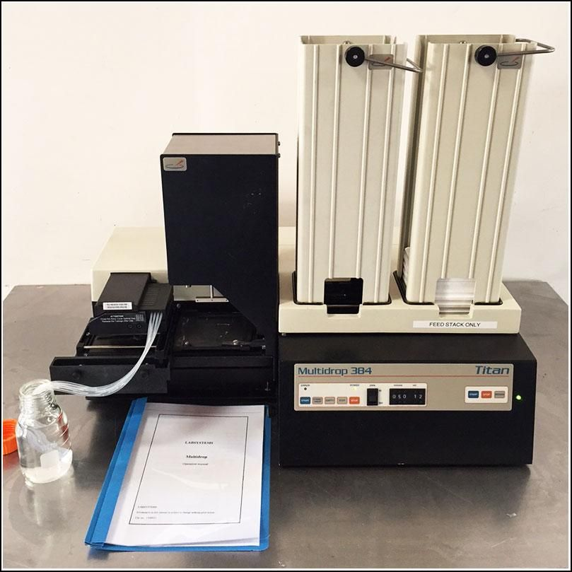 Thermo Multidrop 384 and 96 Microplate Dispenser w Titan Stacker  w WARRANTY