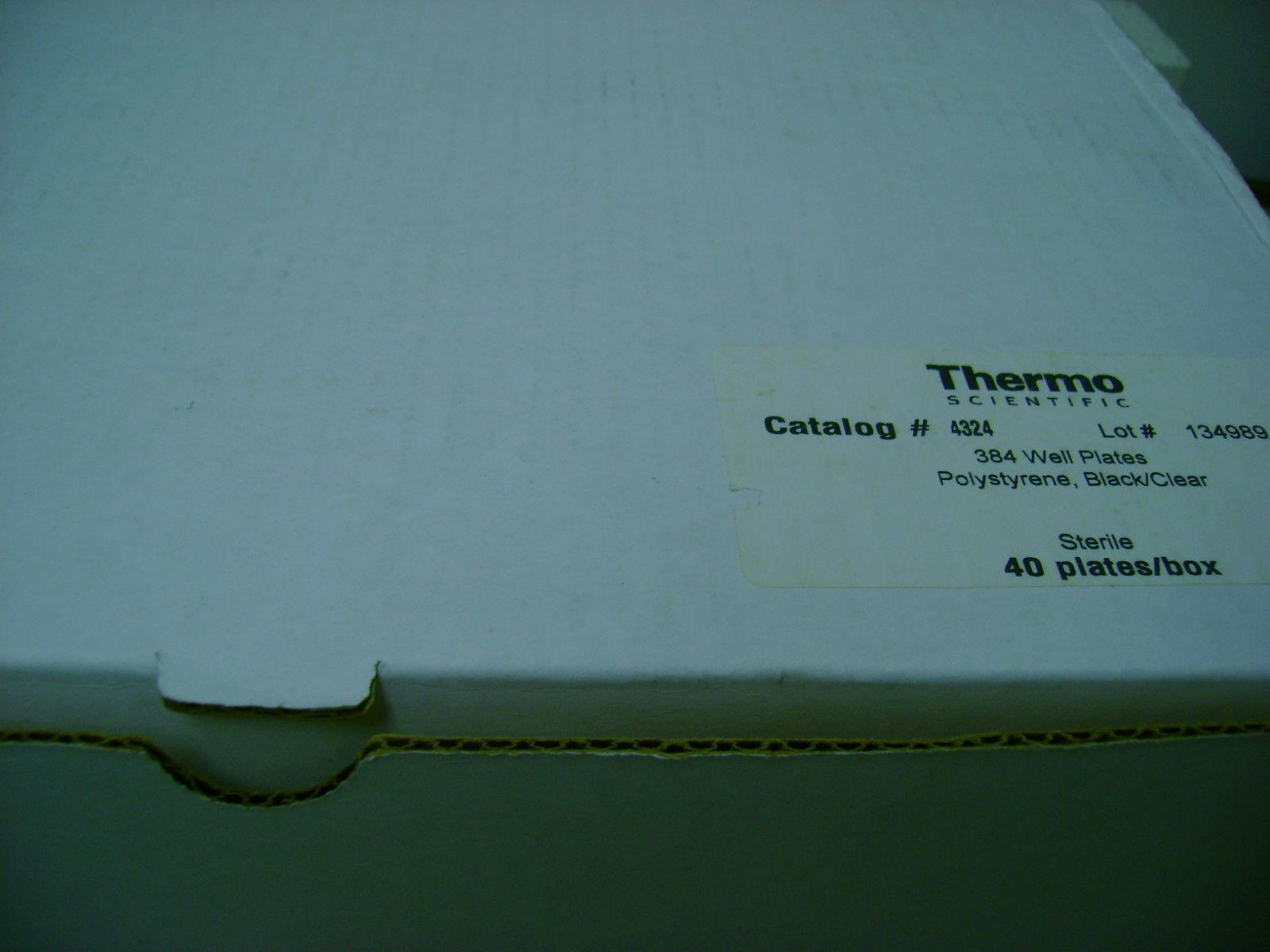 Thermo Scientific Sterile Microplate 384well Polysteryne Black/clear 4324 40/box