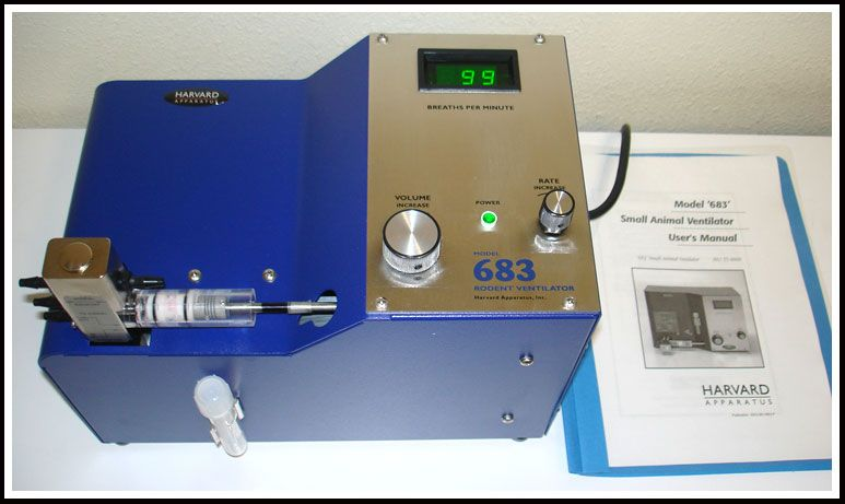 Harvard Apparatus 683 Small Animal Ventilator w WARRANTY