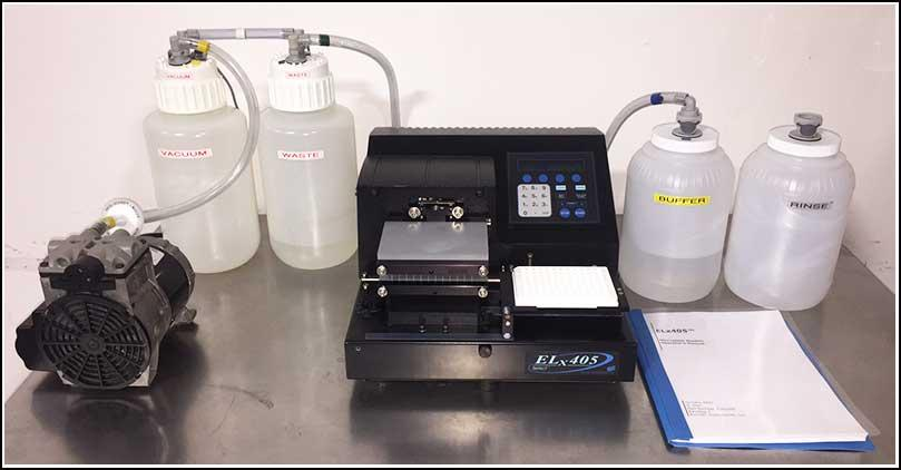 Bio-Tek Microplate 96 & 384 Washer ELx405 COMPLETE w WARRANTY