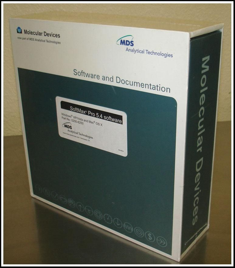 Molecular Devices SoftMax Pro 5.4 Microplate Reader Software w WARRANTY