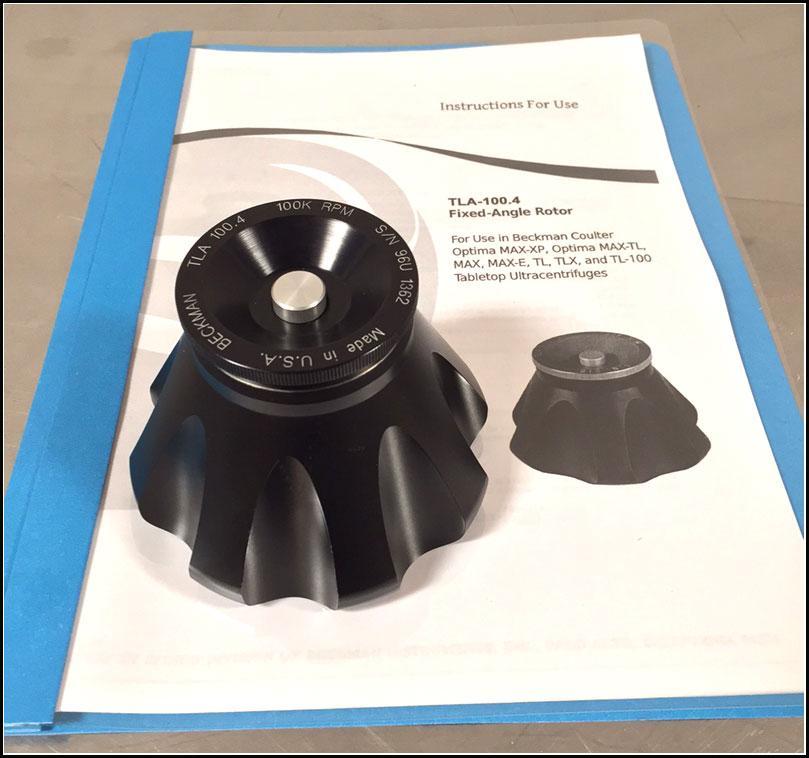 Beckman Ultracentrifuge TLA-100.4 Rotor w WARRANTY