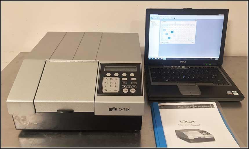 Bio-Tek uQuant Microplate Reader 200-999nm Complete w WARRANTY