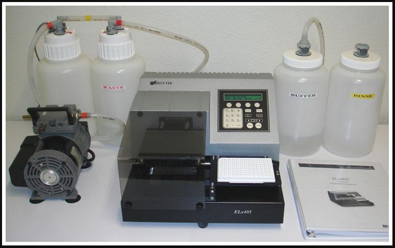 Bio-Tek Microplate 96w Washer ELx405 COMPLETE SYSTEM w WARRANTY